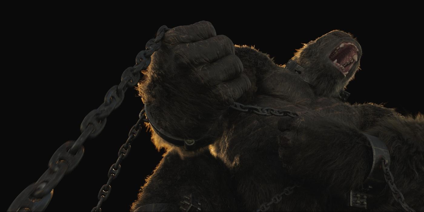 king kong 3d model fighitng chains progression cgi