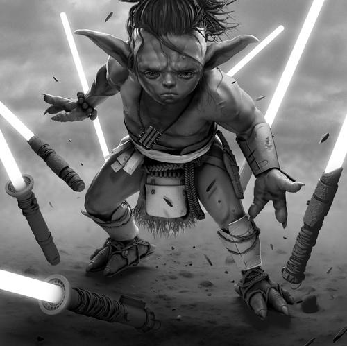 young master yoda 2d illustration