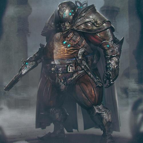 dark armoured knight 3d sculpt