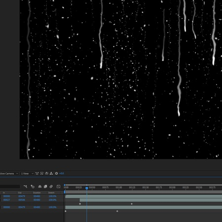 after effects window editing motion graphics rain