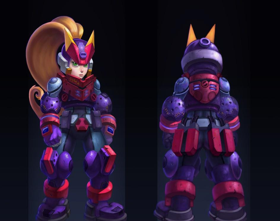 Megaman ZX advent Asheby Rav3