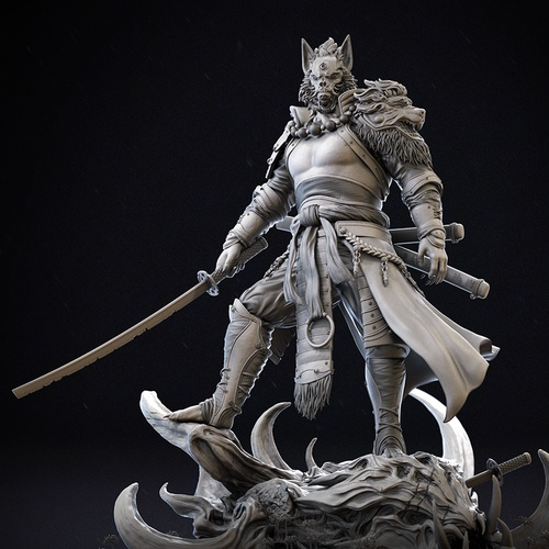 Japanese demon hero samurai