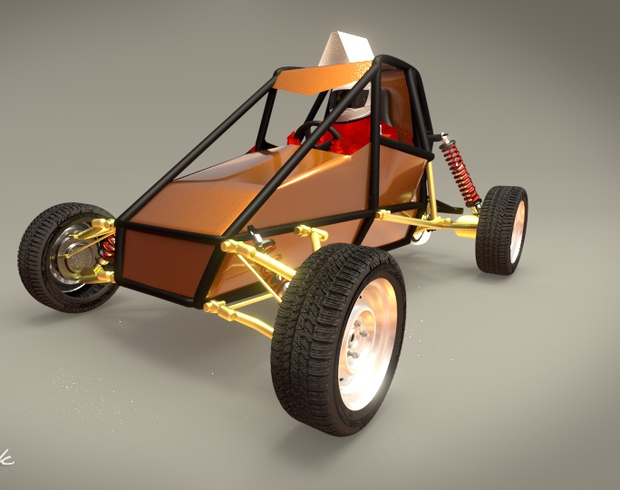 EGR: Front view of racing carby brinca