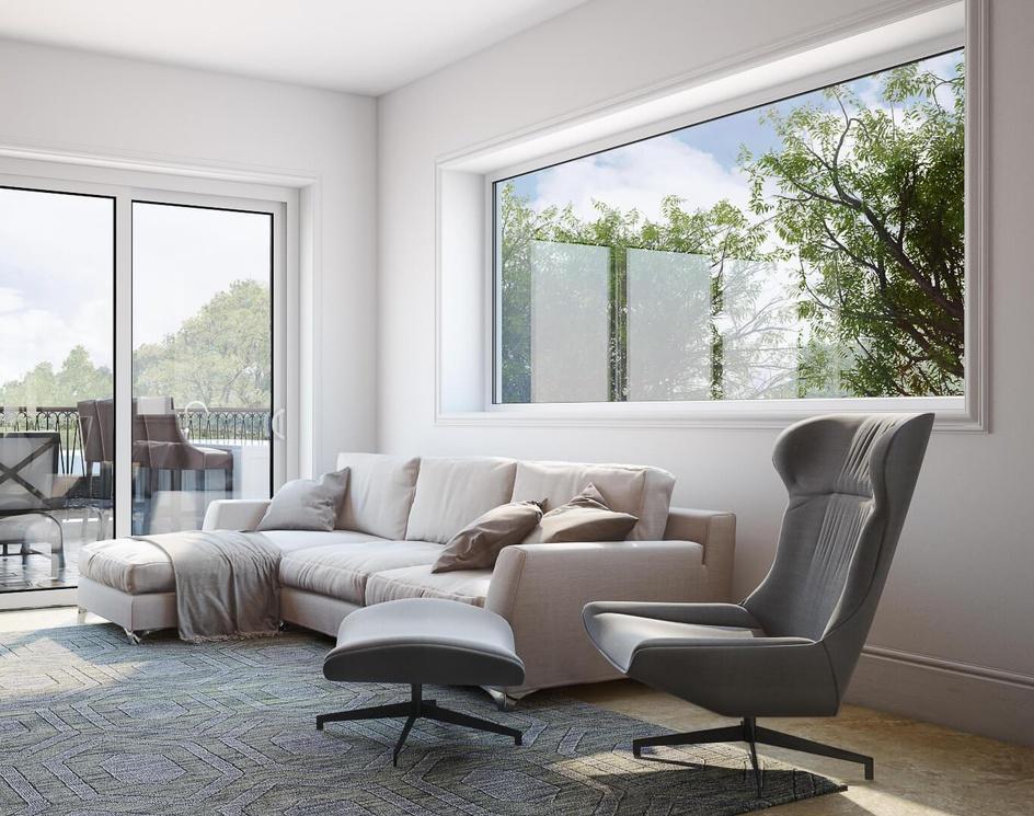 Livingroom 3d rendering for El Paso projectby Archicgi