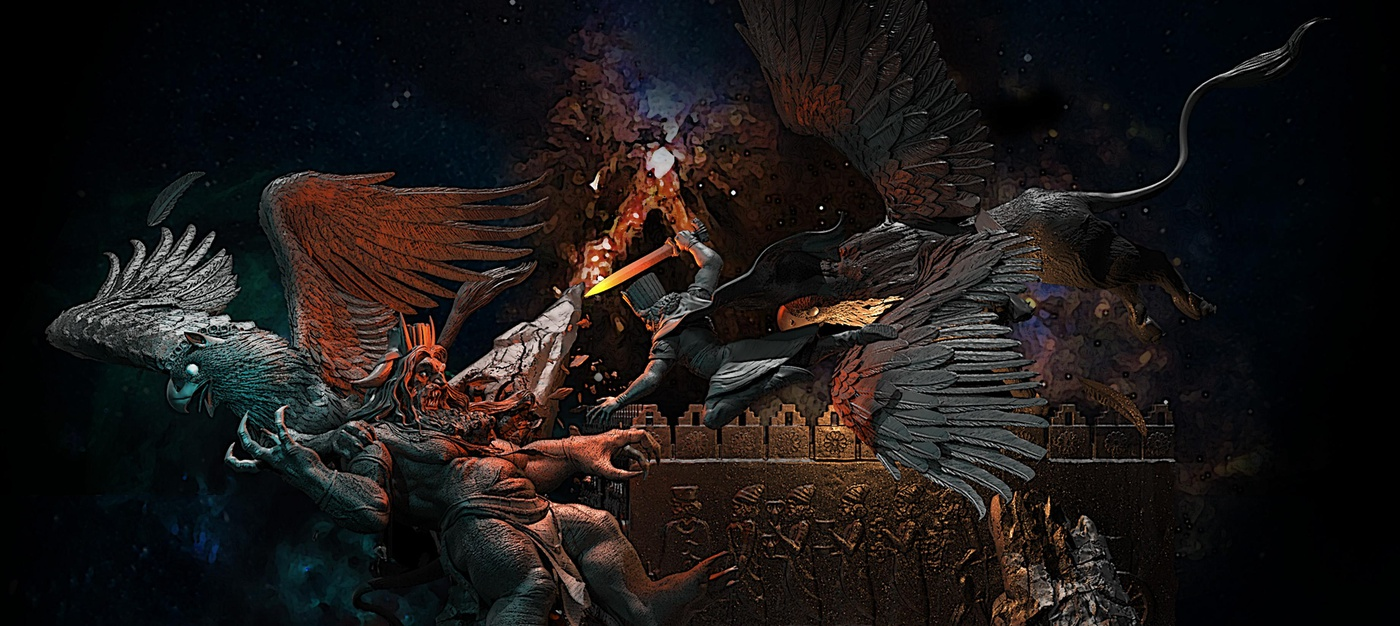 Persian mythology god demon epic