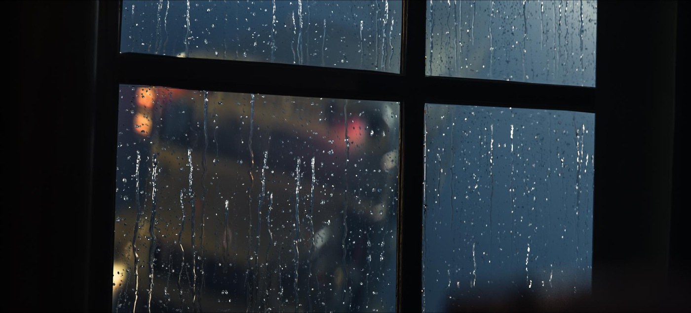 rain window visual effects weather 3d modelling after effects