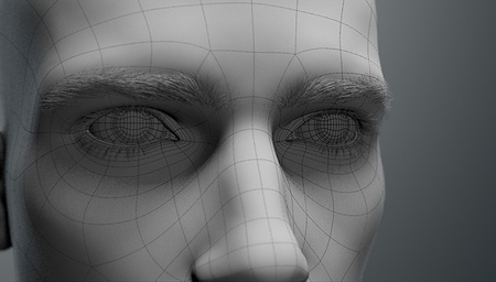 realistic face model 3d render eye facial features