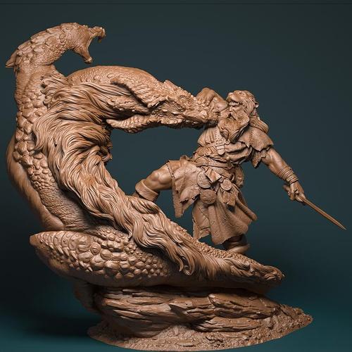 Persian Iranian hero legend dragon