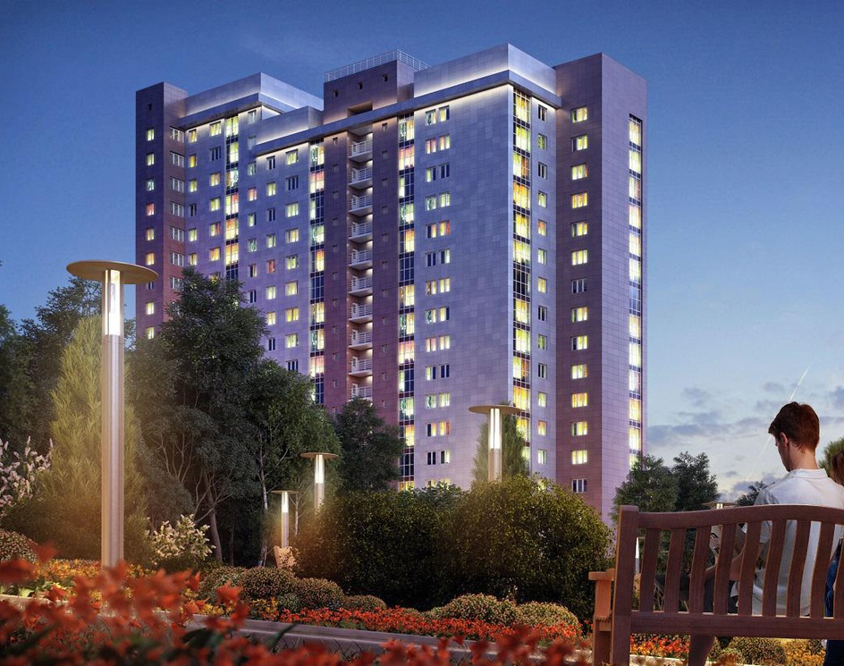 """3D renderings of residential complex """"Yauza Park"""" for the promotional siteby Photoreal3d"""