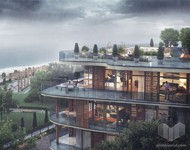 Residential development in Latviaby Photoreal3d