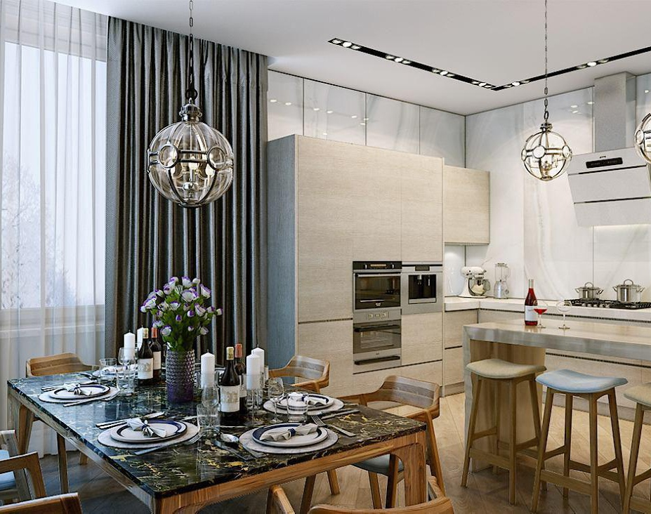Interior of the private houseby Photoreal3d