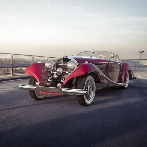 old fashioned car 3d model
