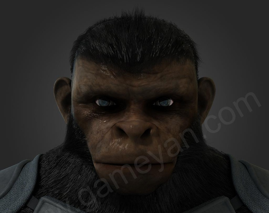 Cinematic 3D Character of Kung Fu Ape – sci-fi Cartoon feature filmby GameYan
