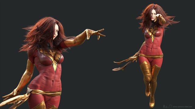 dark phoenix, fan art, design, character