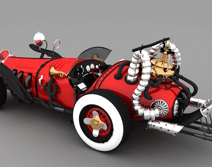 V20 Classic vintage stylish yet Elegant Car modelling By GameYan game art outsourcingby GameYan