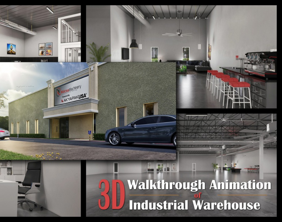 3D Walkthrough Animation Of Industrial Warehouse Office 3D Interior Rendering Services by Architectural Modeling Firm, Doha - Qatarby Ruturaj desai