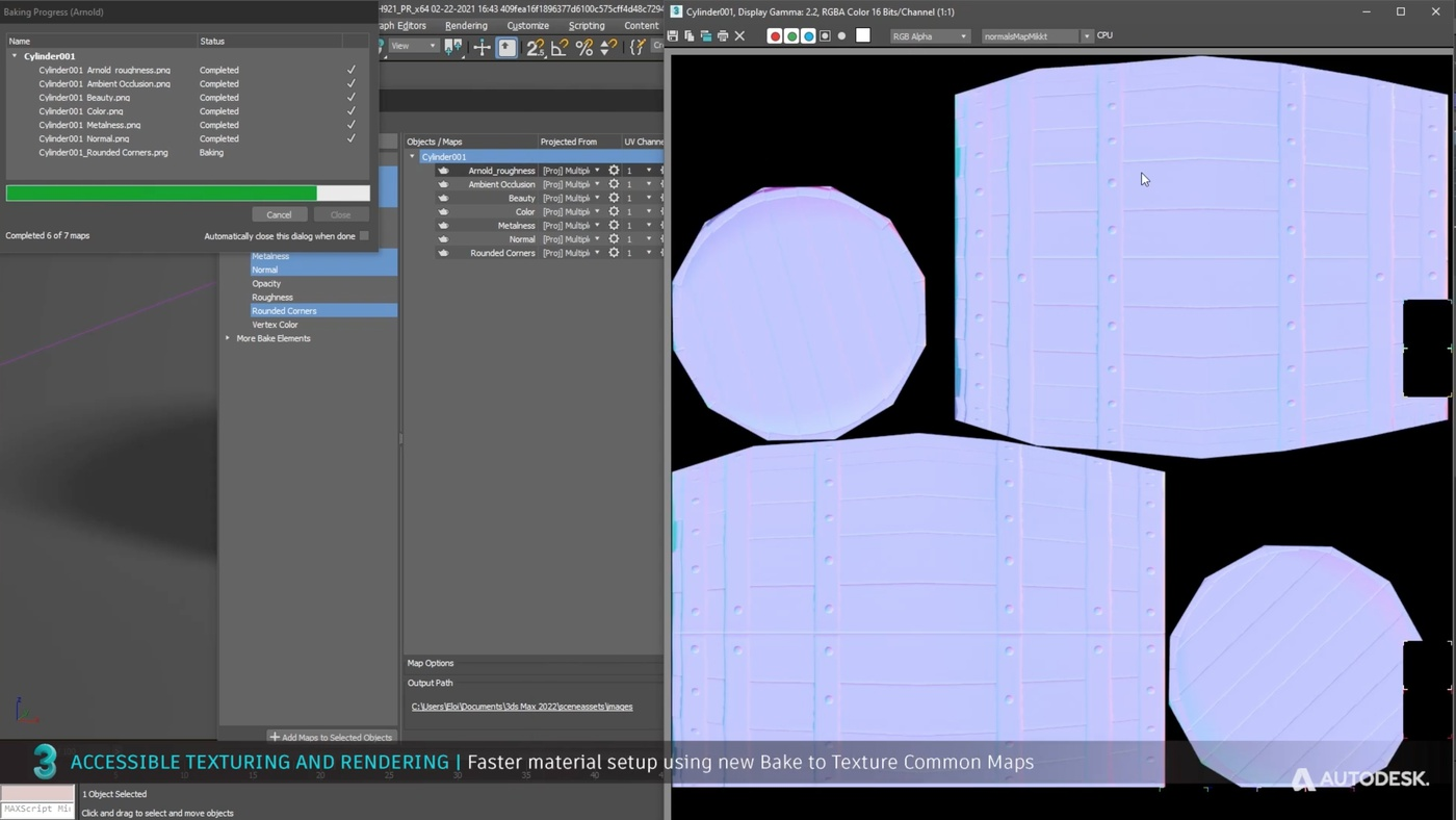 texturing rendering Bake Texture Common Maps