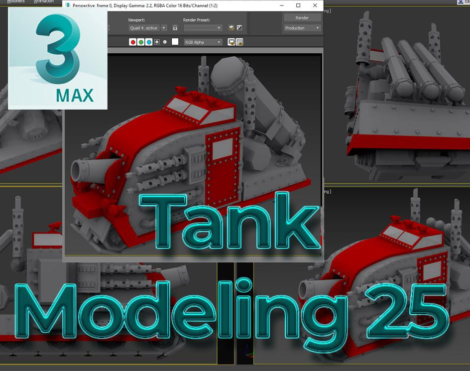 3ds Max TANK 25by Harold Bravo