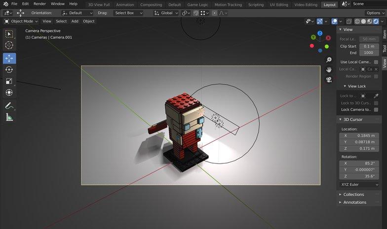 moving camera viewpoint 3d model presentation