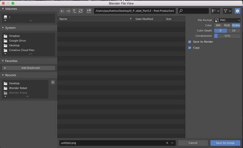 color depth blender saving imagery rendering