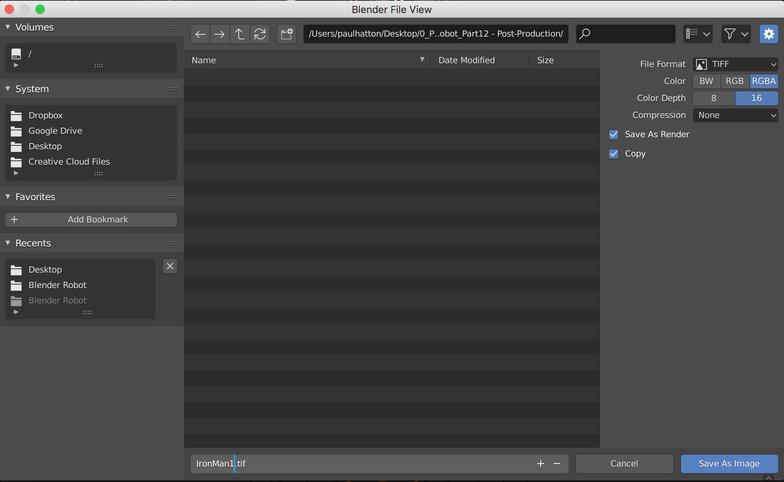 blender rendering tiff imagery compression