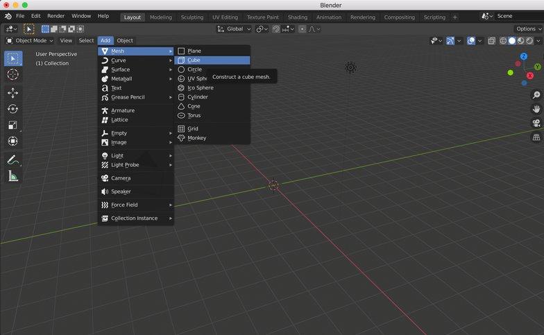 mesh 3d model blender
