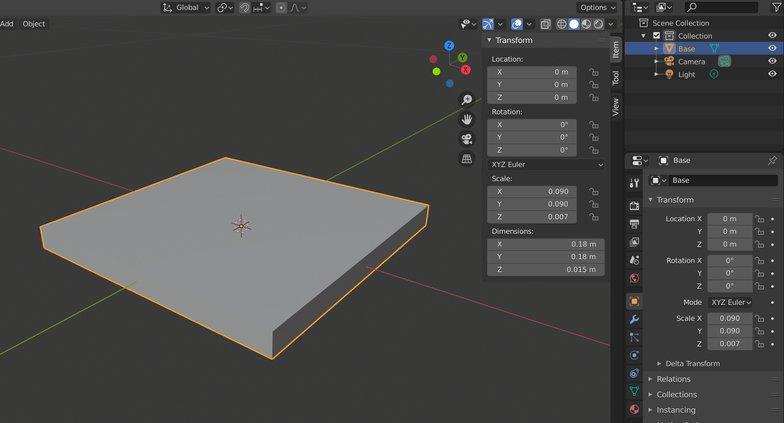 dimensions 3d modeling render