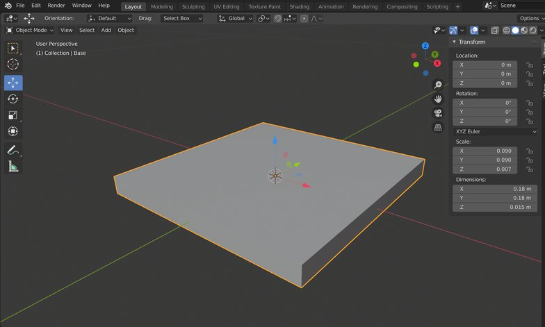 rotating tools 3d render box