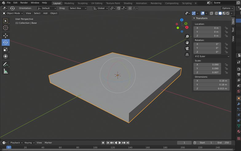 scale tool object 3d shape