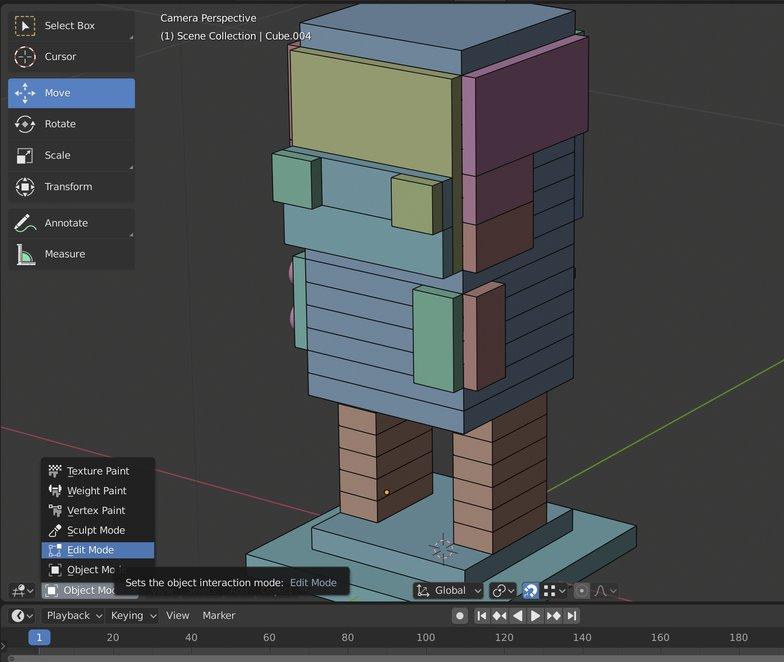 selected objects blender 3d model