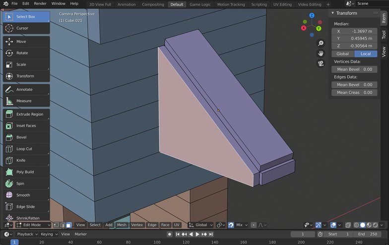 extrude faces 3d modelling