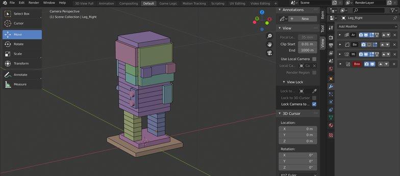 modifier stack position blender modeling