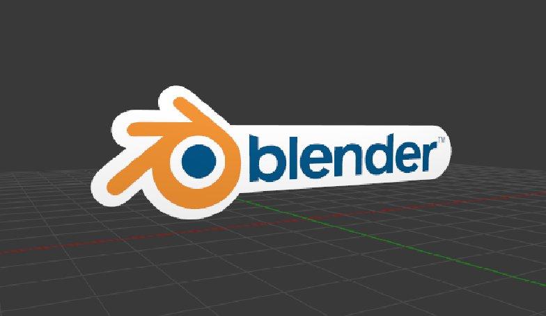 blender logo model creating producing