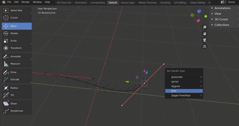 handle points control curves 3d modelling