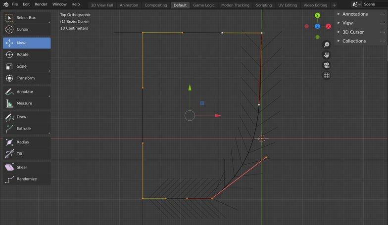 handle types curves 3d model
