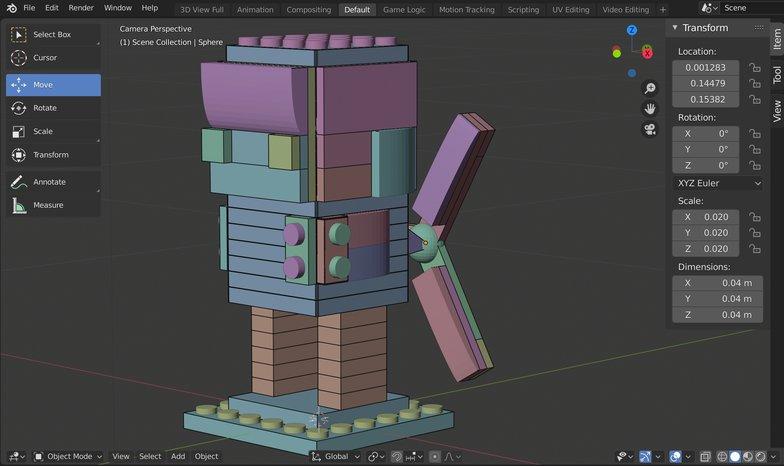 tail fins 3d blender model render