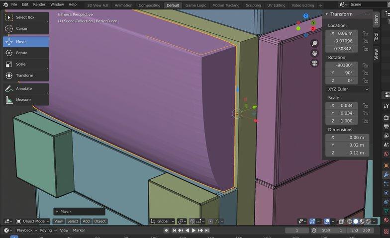 block variety adjustments 3d model