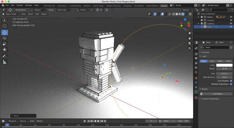 iron man 3d model light source