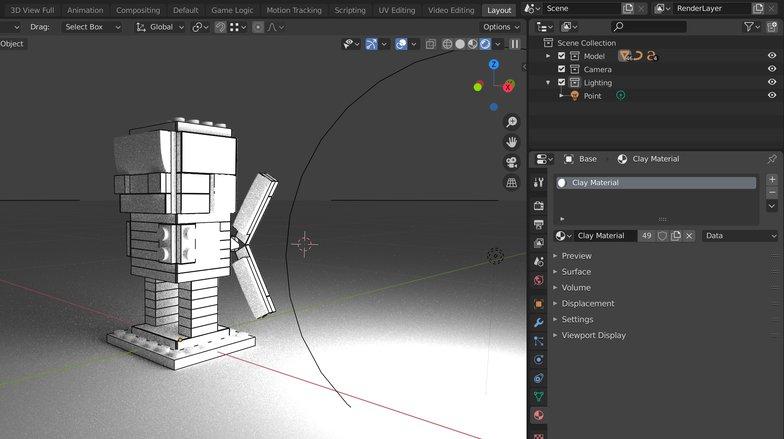 base material zbrush 3d model