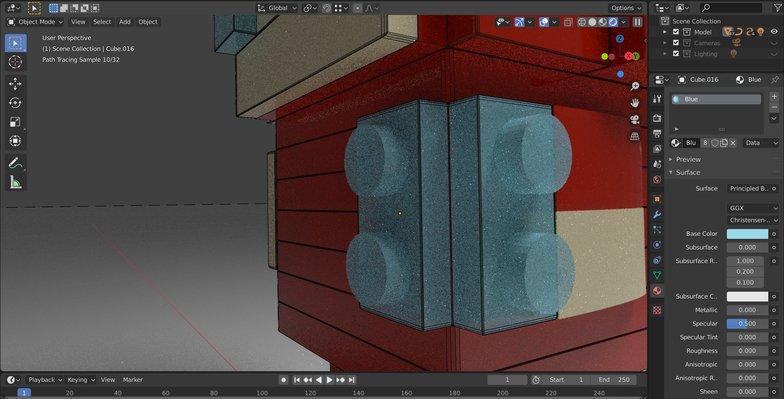 transparent see through lego block material