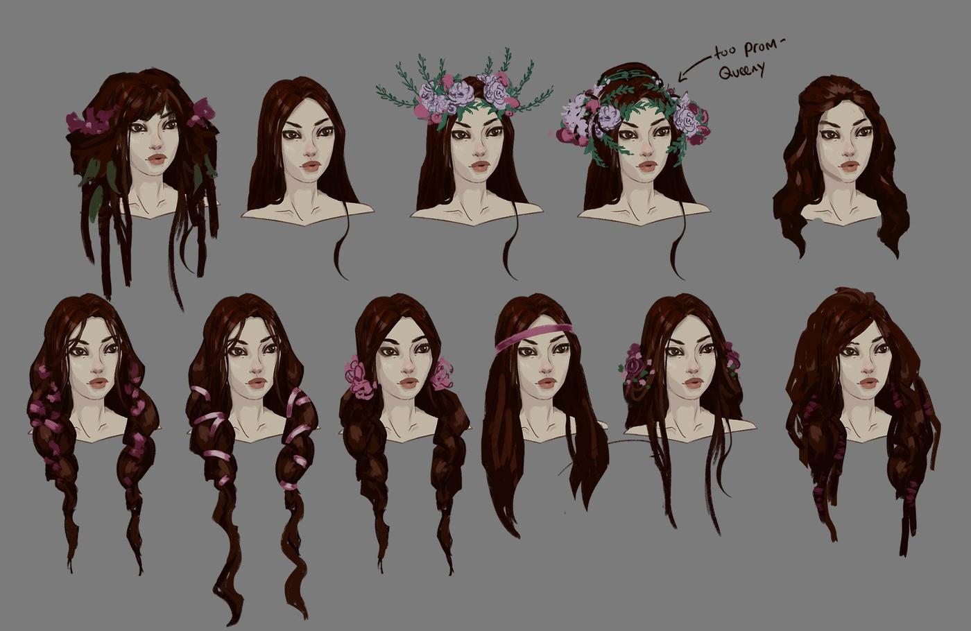 hair development experimentation styling digital art