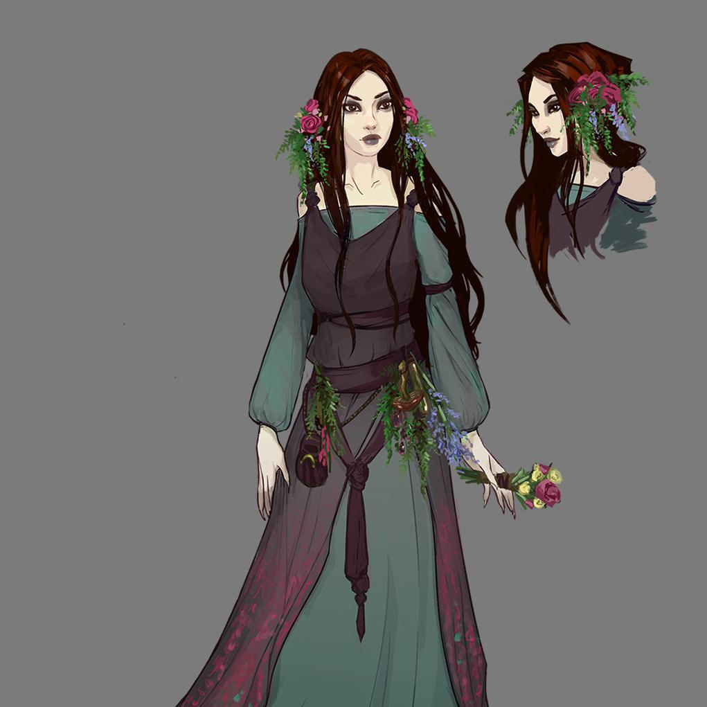 final imagery female character fantasy 2d art