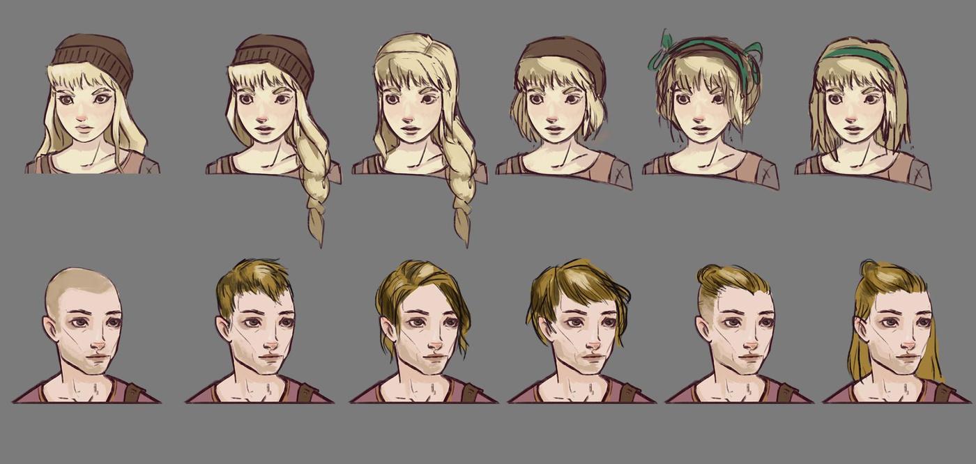 face hair development head shape 2d art digital