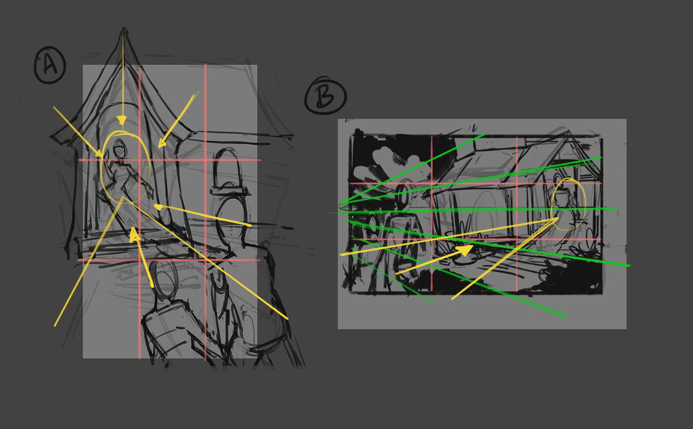 grid illustration rules of thirds drawing guide