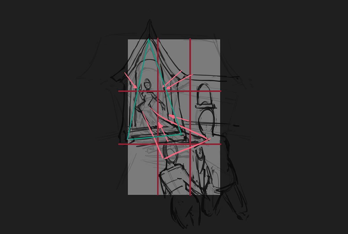 sketching digital painting sketching 2d grid