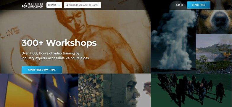 The Gnomon Workshop website 3d content tutorials