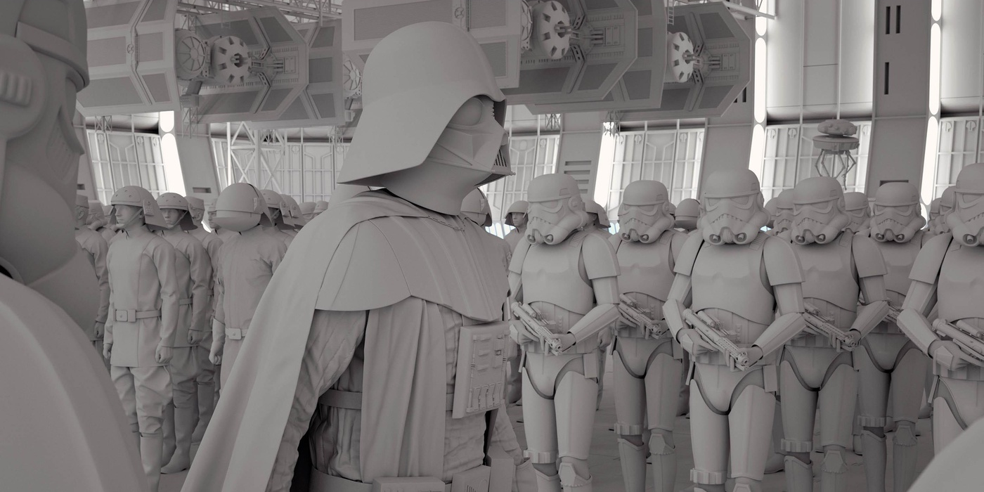 darth vader with clones 3d design