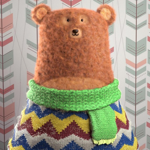 winter bear fluffy animal creation 3d