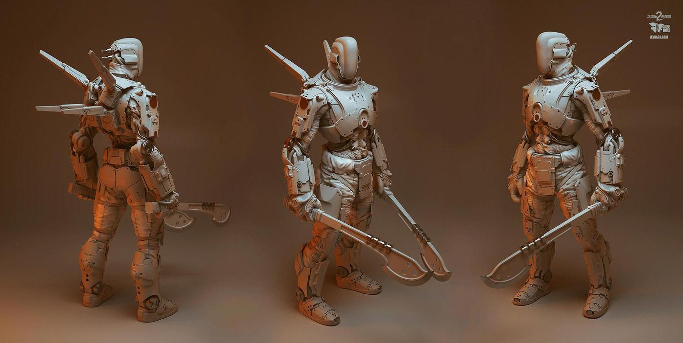 ninja shadow futuristic warrior