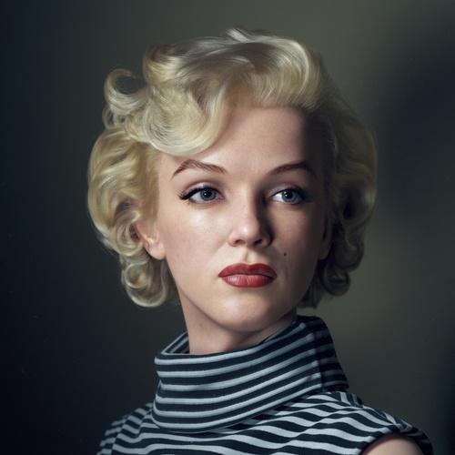 Marilyn  monroe realistic portrait 3d model